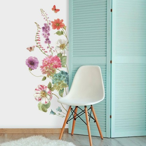Lisa Audit Garden Flowers Peel And Stick Giant Wall Decal Roommates Target