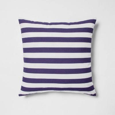 Indoor/Outdoor Striped Throw PillowNavy/White - Sun Squad™