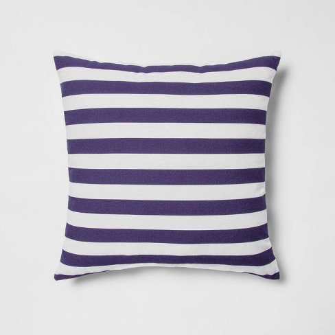 Indoor/Outdoor Striped Throw PillowNavy/White - Sun Squad™ - image 1 of 4
