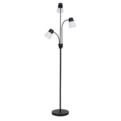 LED Three Head Floor Lamp Black - Room Essentials™
