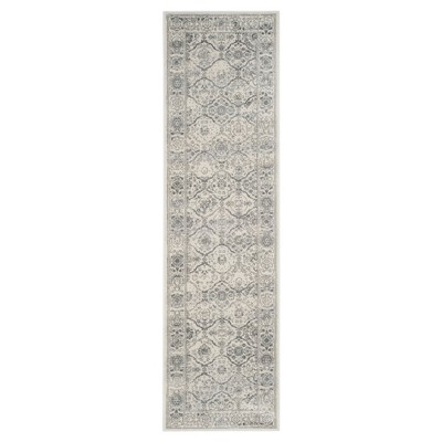 "Carnegie Rug - Cream/Dark Gray - (2'3""X8')- Safavieh"