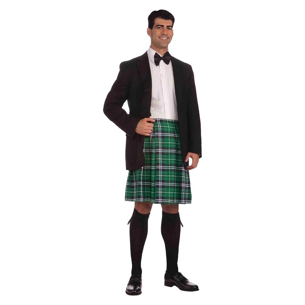 Men's Gentleman Kilt Costume, Green