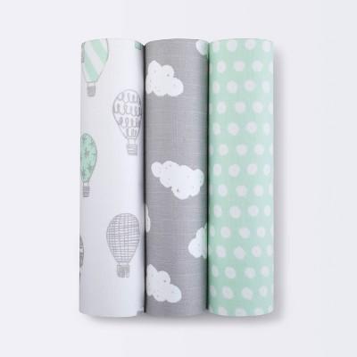 Swaddle Blankets In the Clouds 3pk - Cloud Island™ Joyful Mint