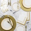 Round Gold Placemats with Glitter Border, 8 pk - image 2 of 2