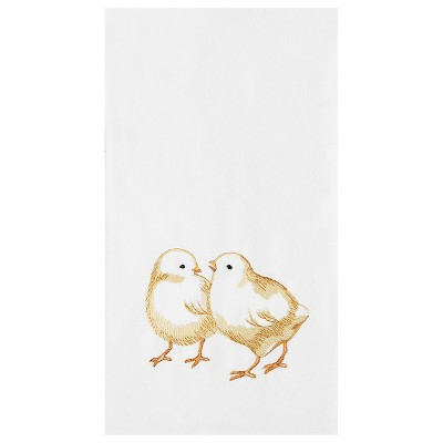 C&F Home Chicks Flour Sack Embroidered Cotton Kitchen Towel