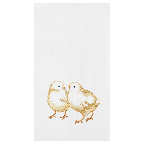 C&F Home Chicks Flour Sack Embroidered Cotton Kitchen Towel - image 1 of 4