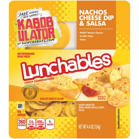 Oscar Mayer Lunchables Nachos Cheese Dip & Salsa - 4.4oz - image 1 of 1