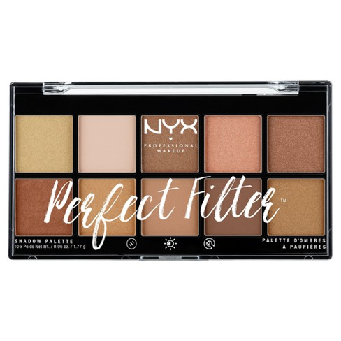 NYX Professional Makeup Perfect Filter Eyeshadow Palette - 0.6oz - image 1 of 3