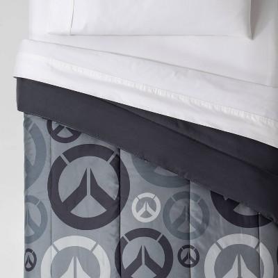 Overwatch Twin Heroes Comforter Gray