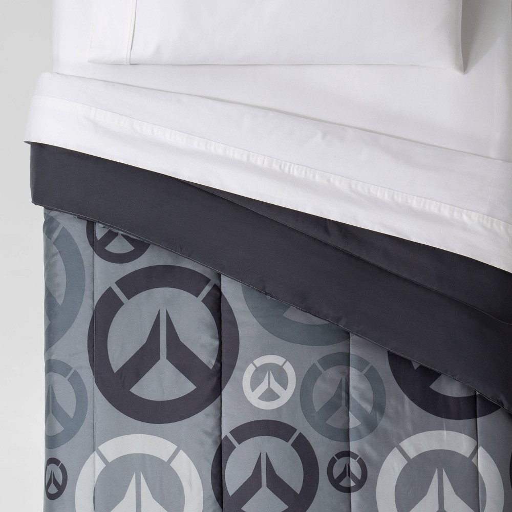 Image of Overwatch Full Heroes Comforter Gray