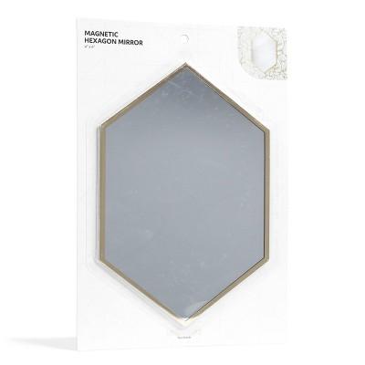 Magnetic Hexagon Locker Mirror Gold   Locker Style By U Brands by Locker Style By U Brands