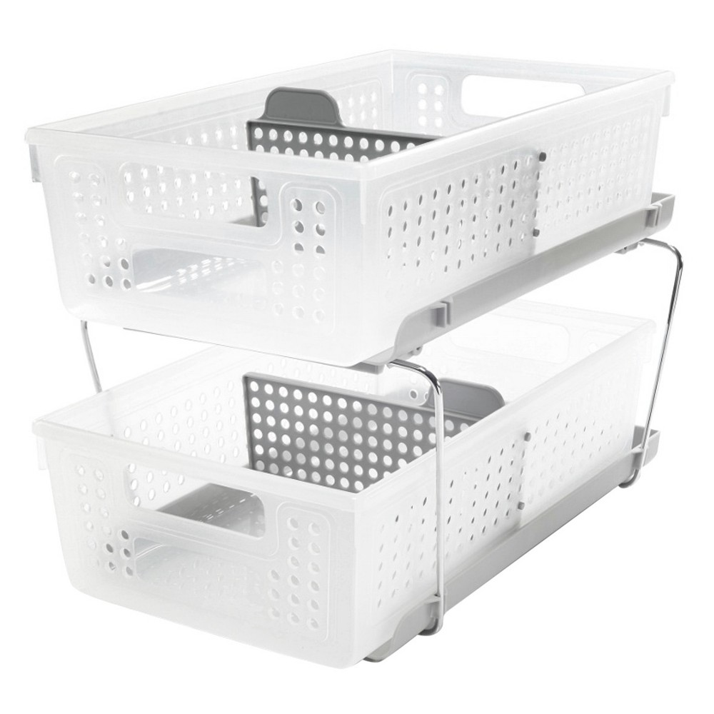 Image of Madesmart 2-Tier Organizer with Dividers Gray - Madesmart