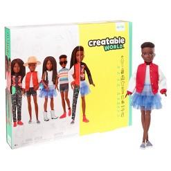 Creatable World Deluxe Character Kit Customizable Doll - Black Braided Hair