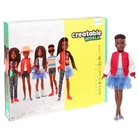 Creatable World Deluxe Character Kit Customizable Doll - Black Braided Hair - image 1 of 4