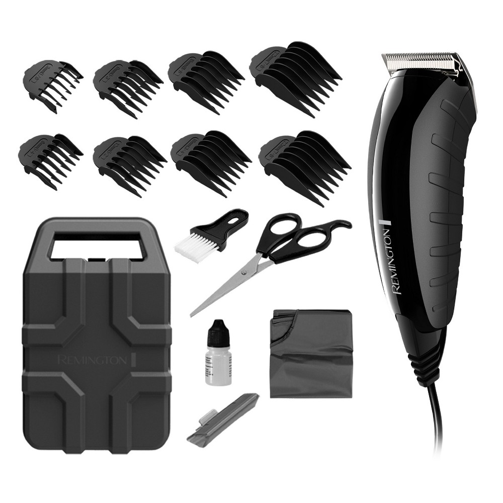 Image of Remington Indestructible Corded Electric Hair Clippers and Trimmer - HC5850, Black