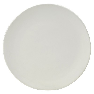 10 Strawberry Street Matte Wave Stoneware Dinner Plates 10.8  White - Set of 6