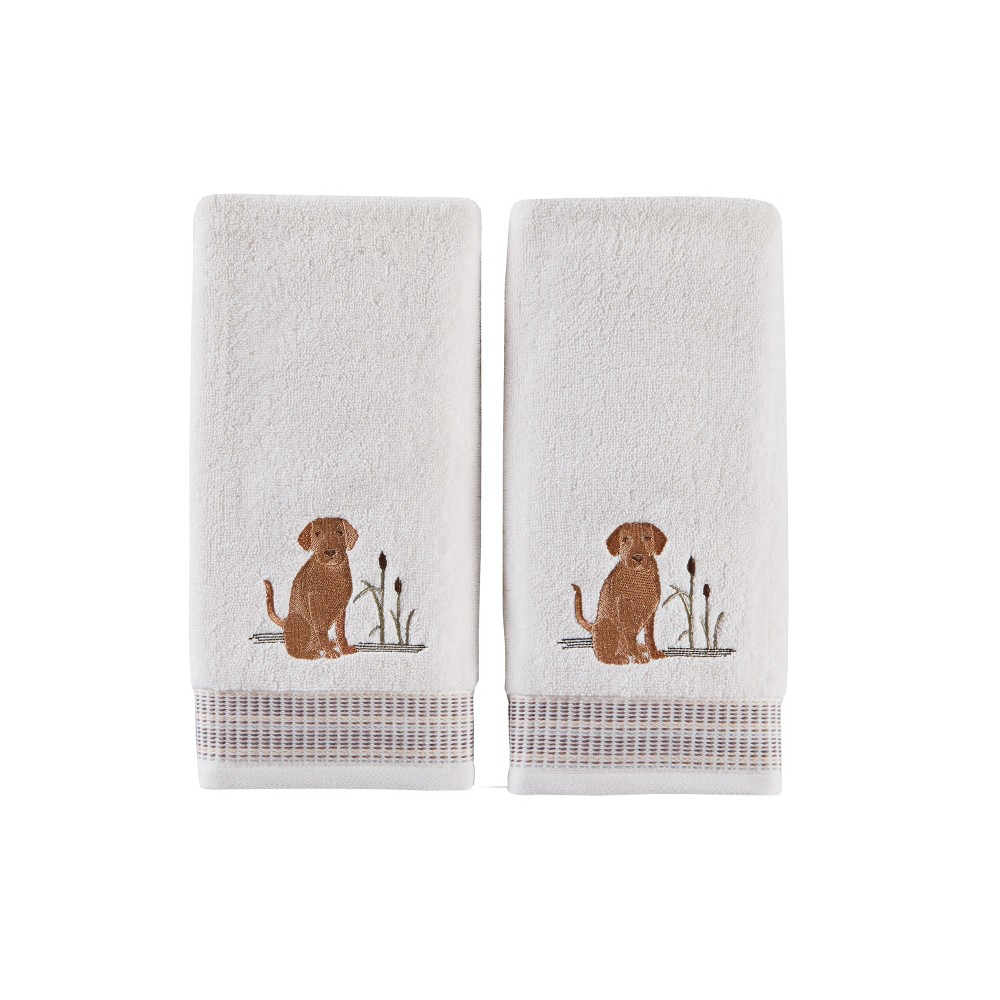 Image of 2pc Adirondack Dogs Hand Towel Bath Towels Sets White - Saturday Knight Ltd.