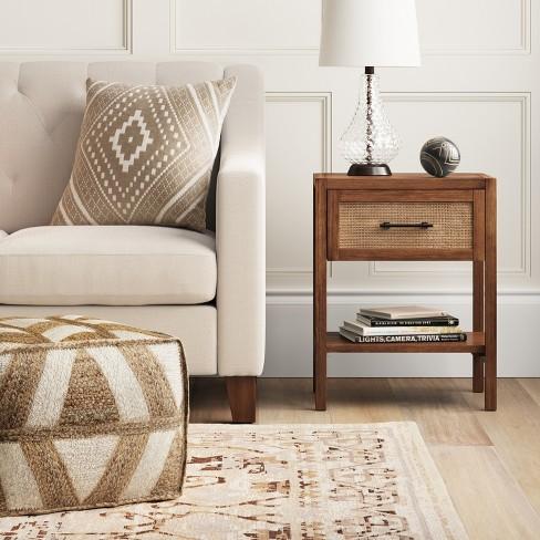 Warwick Wood & Rattan Accent Table - Threshold™ : Target
