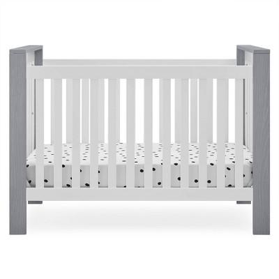 Delta Children Miles 4-in-1 Convertible Crib, Greenguard Gold Certified - Bianca White/Textured Cloud