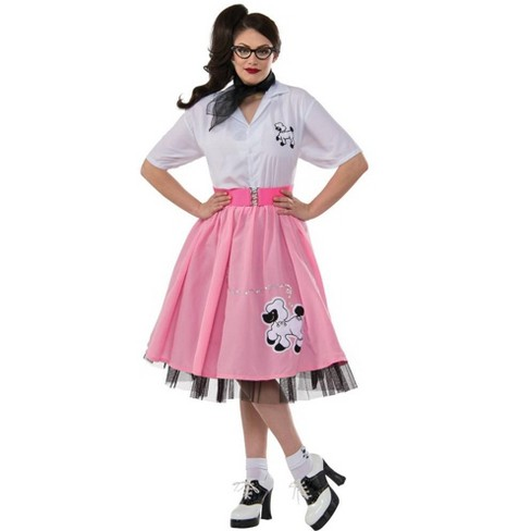 Rubies 50s Poodle Black And White Adult Costume XL - image 1 of 1