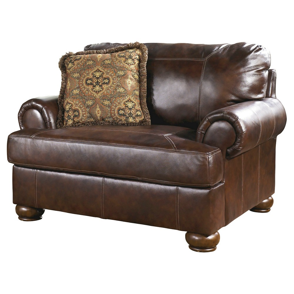 Axiom Chair and a Half Walnut (Brown) - Signature Design by Ashley
