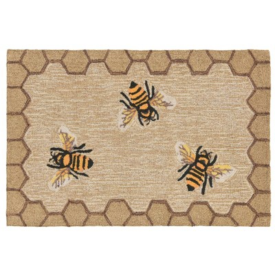 2'6 X4' Bee Accent Rug Natural - Liora Manne