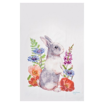 C&F Home Sunny Bunny II Embroidered Cotton Kitchen Towel