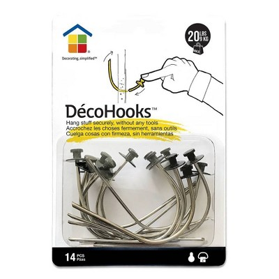 Under the Roof Decorating 20lb Deco Hooks Clear