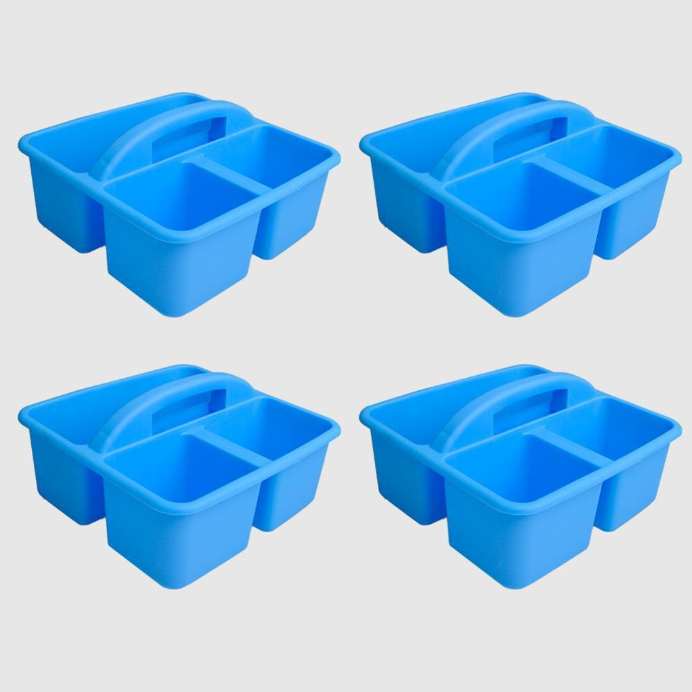 4ct Plastic Supply Caddy Blue - Bullseye's Playground was $12.0 now $6.0 (50.0% off)