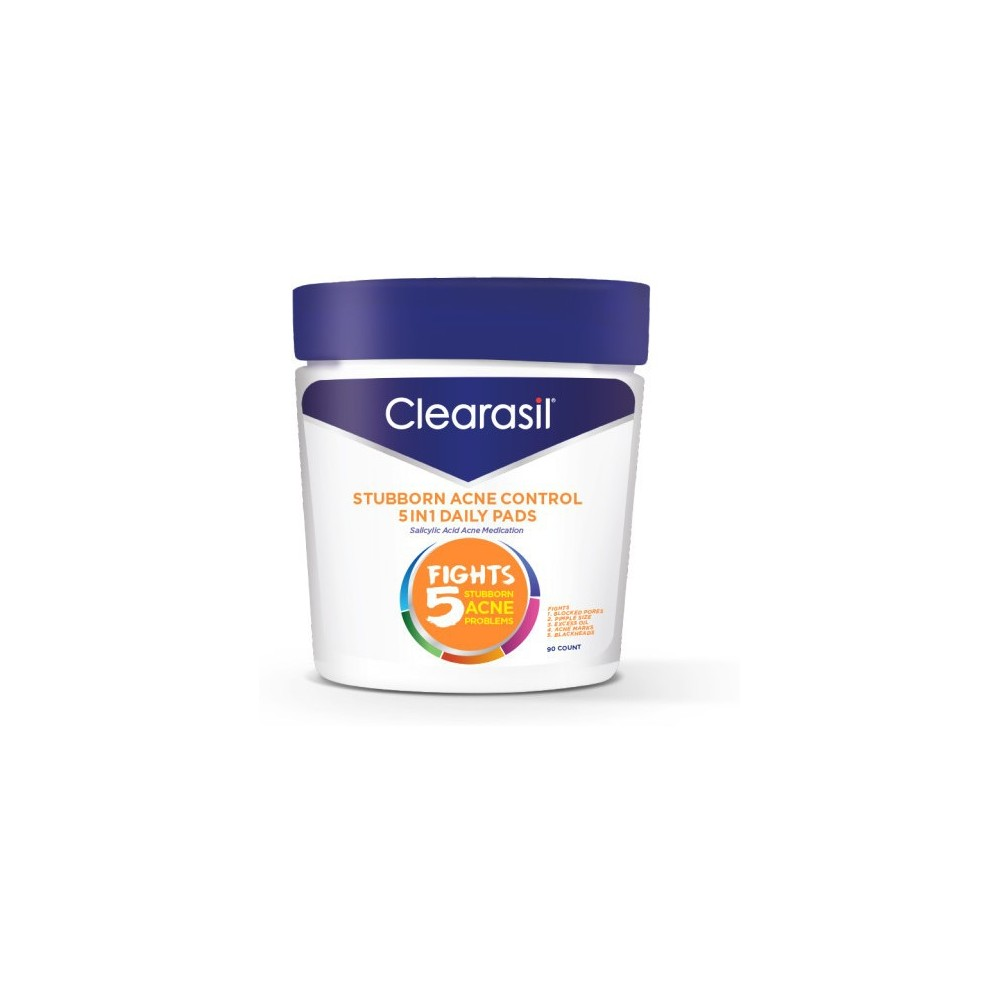Image of Clearasil Stubborn Acne Control - 5in1 Daily Pads 6/90ct