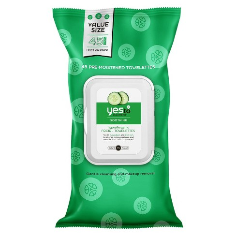 Yes to Cucumbers Hypoallergenic Facial Wipes - 45ct - image 1 of 1