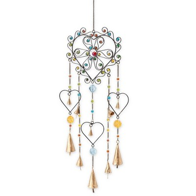 Wind & Weather Colorful Heart Wind Chime
