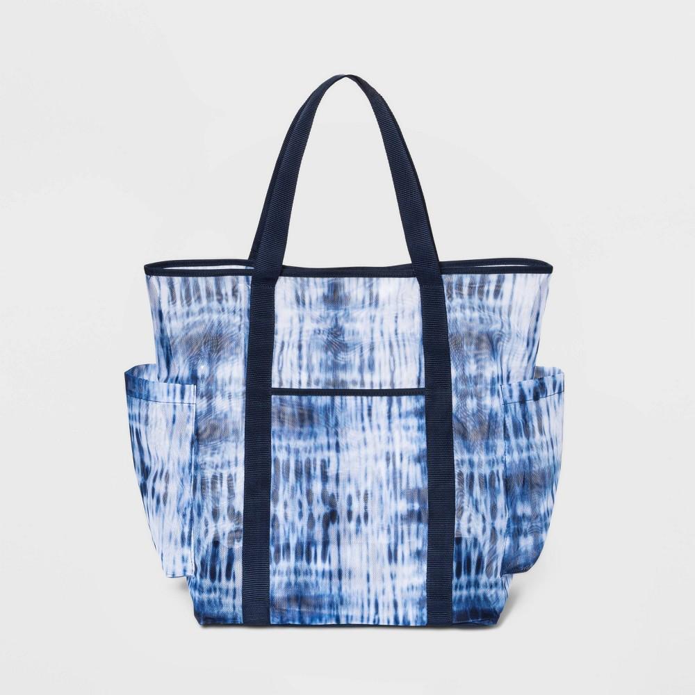 Tie-Dye Mesh Tote Handbag - Shade & Shore Blue