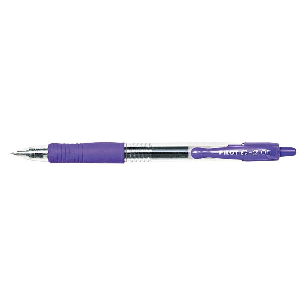 Image of Pilot G2 Extra Fine Gel Ink Pen, 0.5mm - Purple Ink ( 12 Per Set)