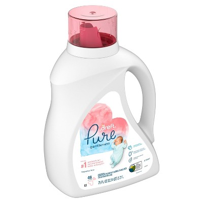 Dreft Pure Gentleness Fragrance Free Liquid Baby Detergent - 75 fl oz