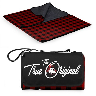 Picnic Time Blanket Tote Outdoor Blanket - Red/Black