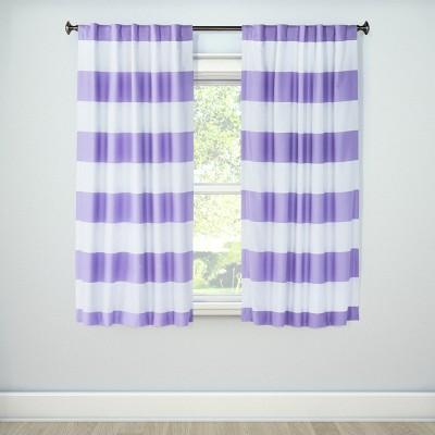 "84"" Twill Light Blocking Curtain Panel Lavender - Pillowfort™"
