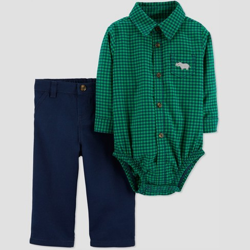 62a65b3e67a2 Baby Boys  2pc Plaid BDS Set - Just One You® Made By Carter s Green ...
