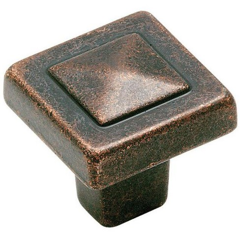 "Amerock BP4429 Forgings 1-1/8"" Square Cabinet Knob - image 1 of 4"