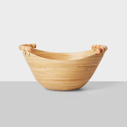 47.3oz Bamboo Serving Bowl with Rattan Handles - Opalhouse™ - image 1 of 4