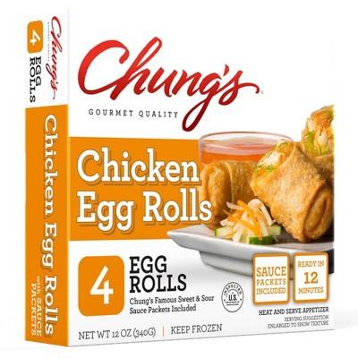 Chung's Frozen Chicken Egg Rolls - 12oz/4ct