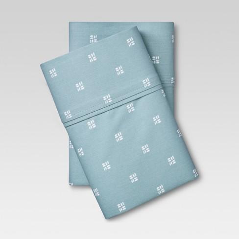 Organic Cotton Printed Pillowcase Set 300 Thread Count - Threshold™ - image 1 of 1