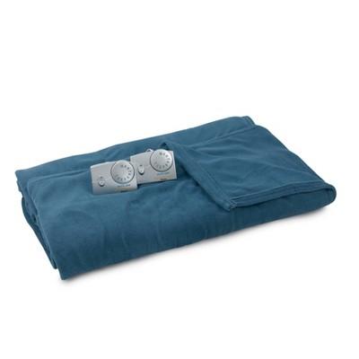 King Microplush Electric Bed Blanket Blue - Biddeford Blankets
