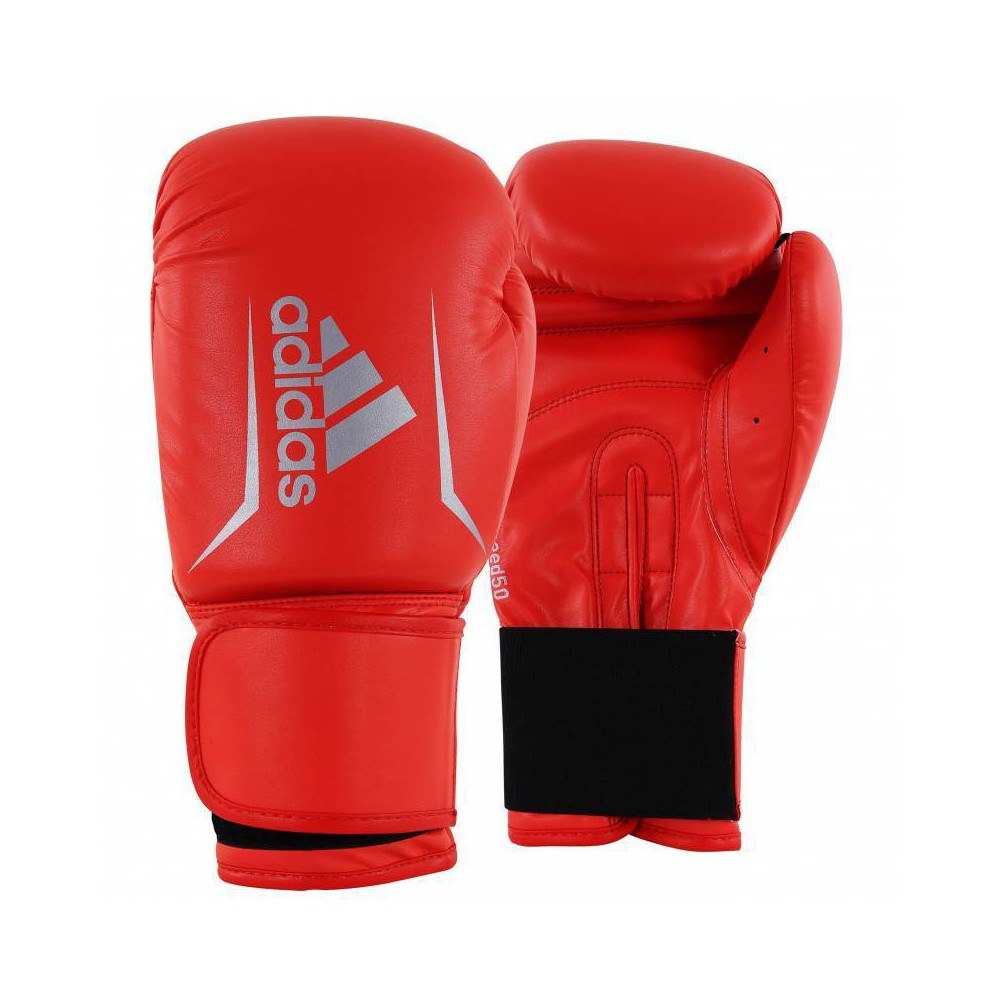 Adidas Speed 50 Smu 12oz Fitness And Training Gloves Red Silver