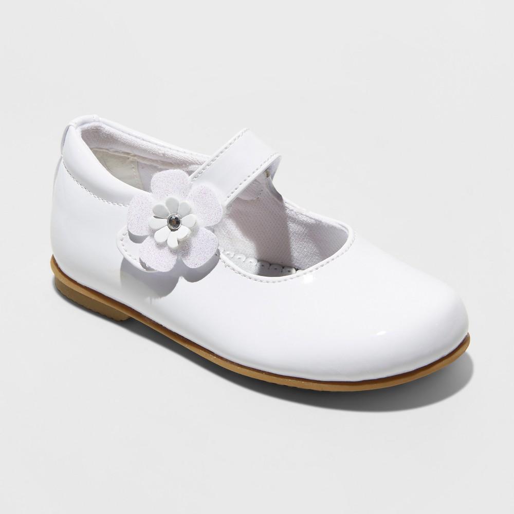 Toddler Girls' Rachel Lil Dawn Ballet Flats - White 5