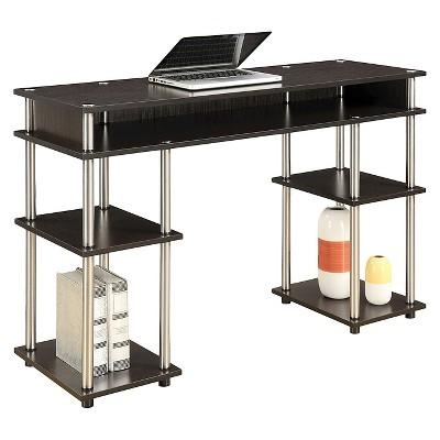 No Tools Student Desk Espresso - Breighton Home : Target