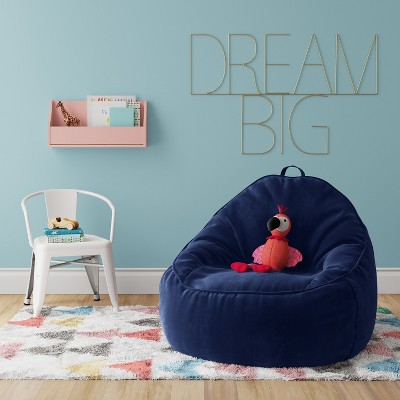 Xl Structured Bean Bag Chair Removable Cover Corduroy Blue Overalls    Pillowfort™