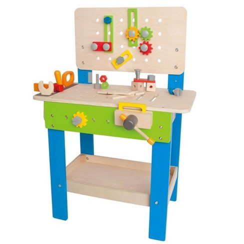 Hape Wooden Child Master Tool and Workbench Toy Pretend Builder Set for Kids 3+ - image 1 of 4