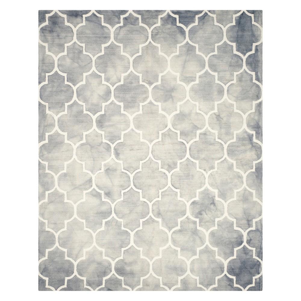 Quatrefoil Design Area Rug Gray/Ivory
