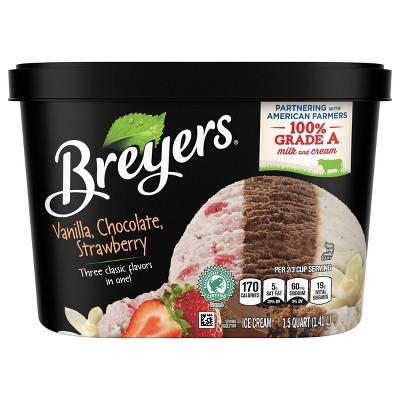 Breyers Vanilla Chocolate Strawberry Ice Cream - 48oz